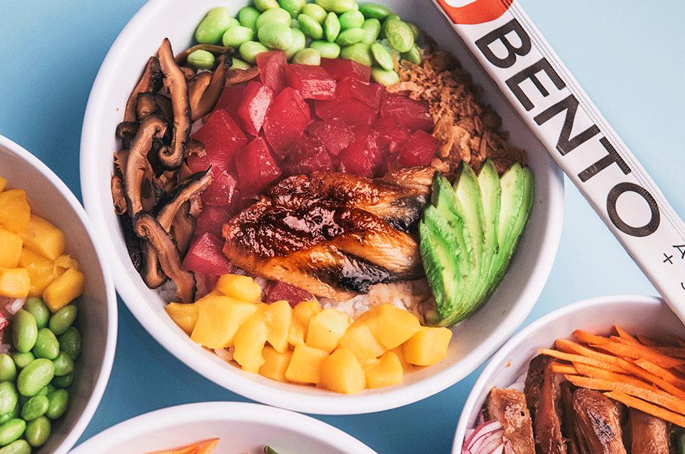 poke bowl, bento cafe, sushi