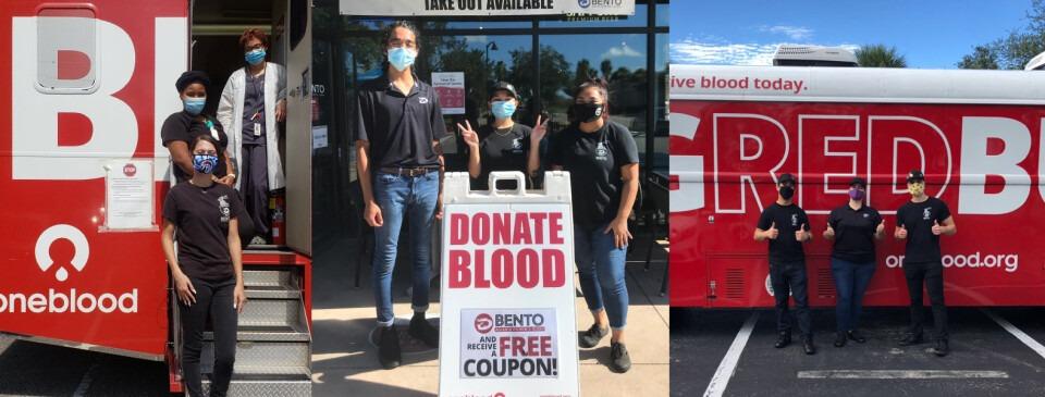 BENTO x OneBlood Blood Drive